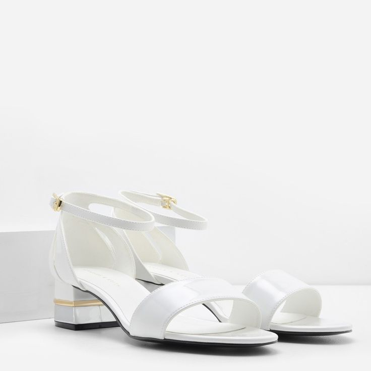 Ankle Strap Mid Heel Sandals | CHARLES & KEITH