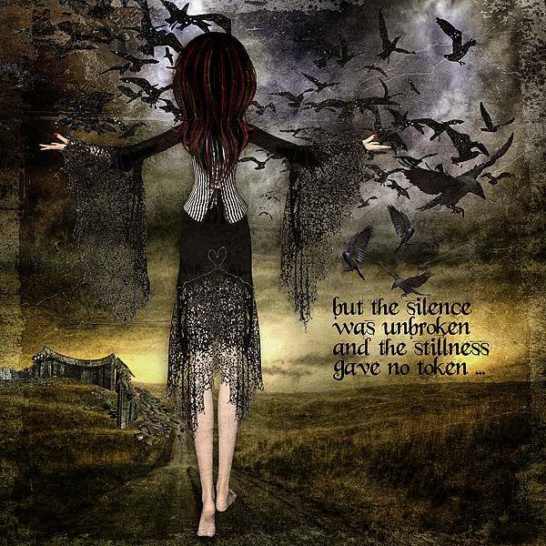 The Silence was Unbroken...Dark Raven Kit at www.mischiefcircus.com