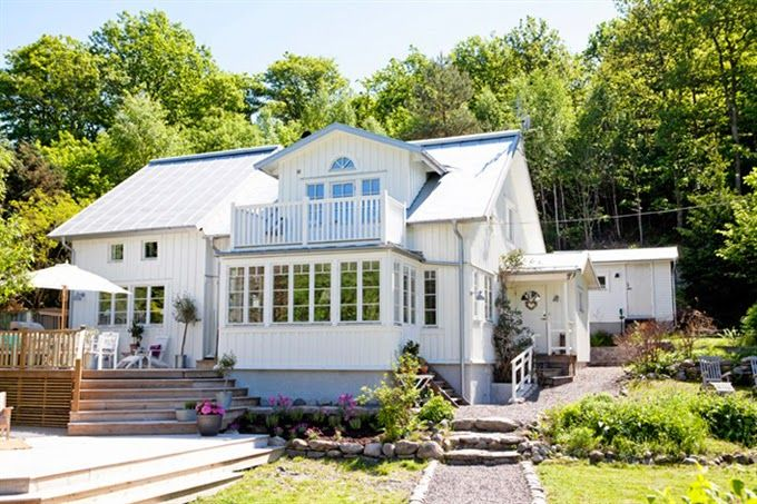 swedish white cottage