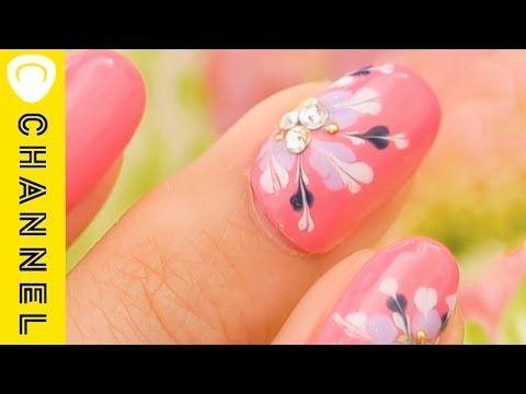 ガーリーな指先♡ハートピーコックネイル|C CHANNELネイル - YouTube