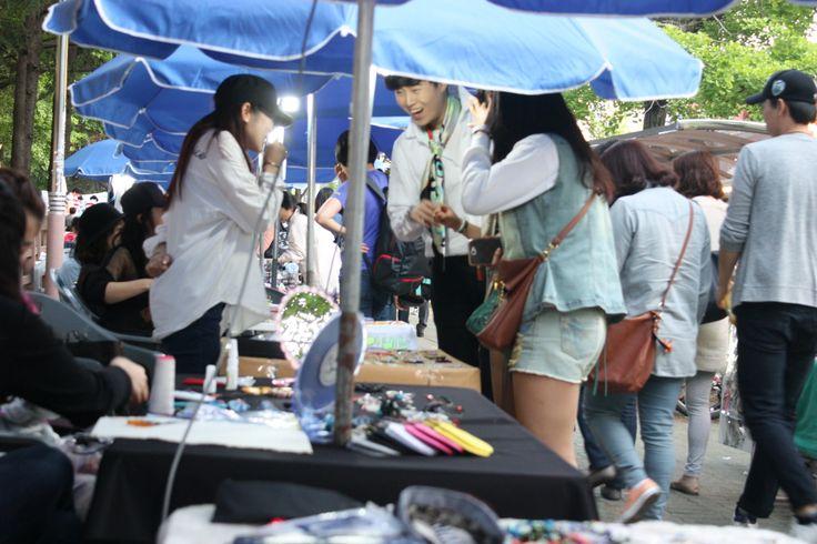 """부산 부경대 앞 대학로 프리마켓 """"놀이터""""! 4월부터 아름다운 대학로를 만듭니다~ㅎ Campus Town of korea"""