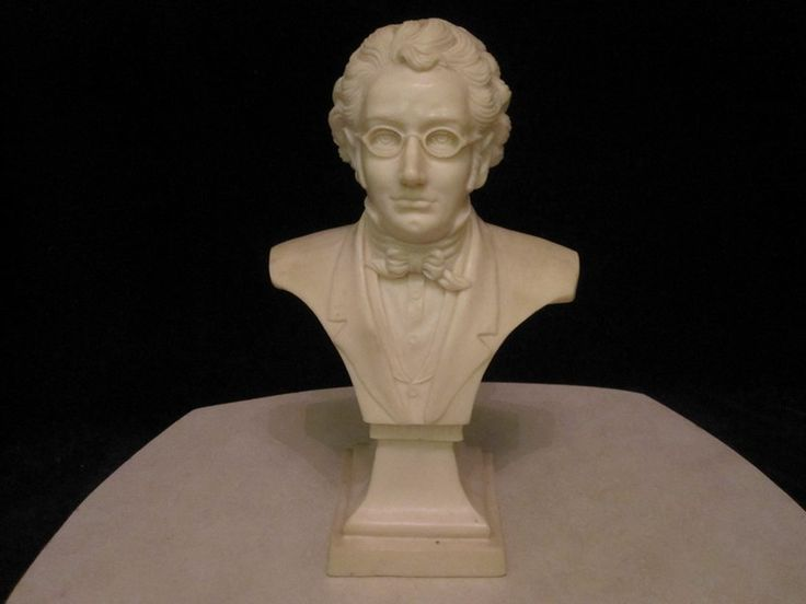 $80 · Vintage Resin bust of classical musician and composer Franz Schubert.