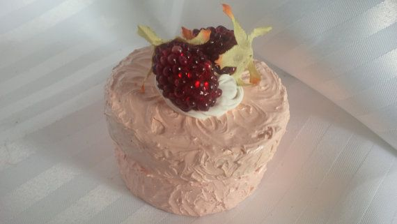 XS Faux Raspberry Pink Frosted Cake Box by ReadyMadeGifts on Etsy, $9.99. Would make a beautiful gift!