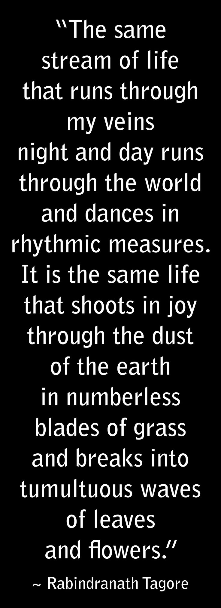 Rabindranath Tagore. Stream of Life.