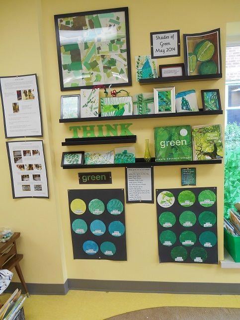 Green - at The Sunflower School, Orangeville I love the floating frames
