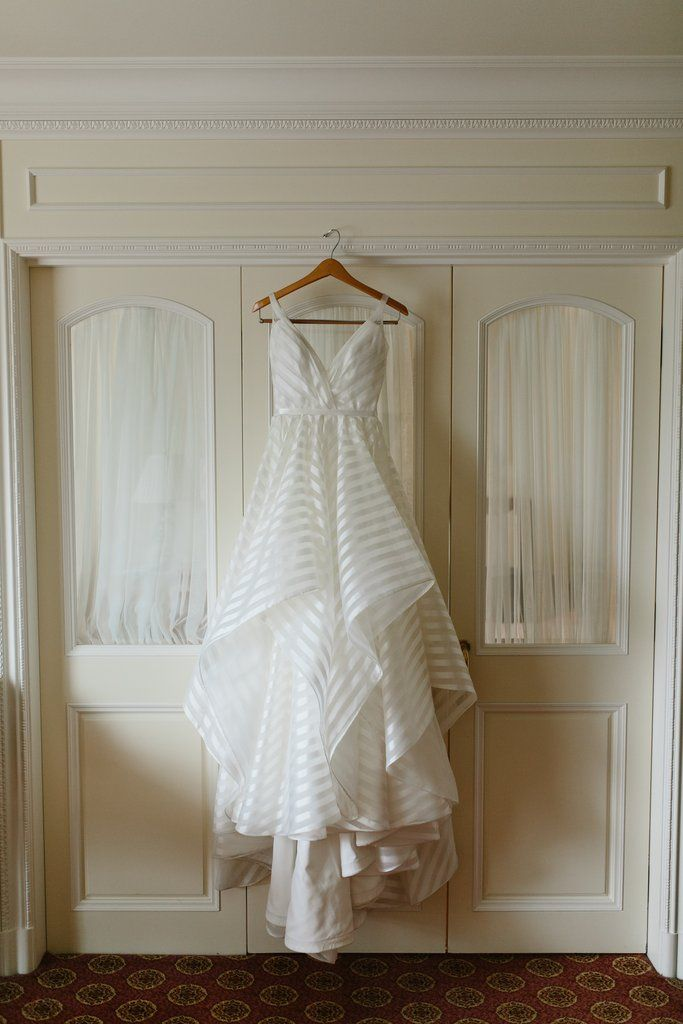 Hayley Paige Decklyn Size 0 Used Wedding Dress Front View On