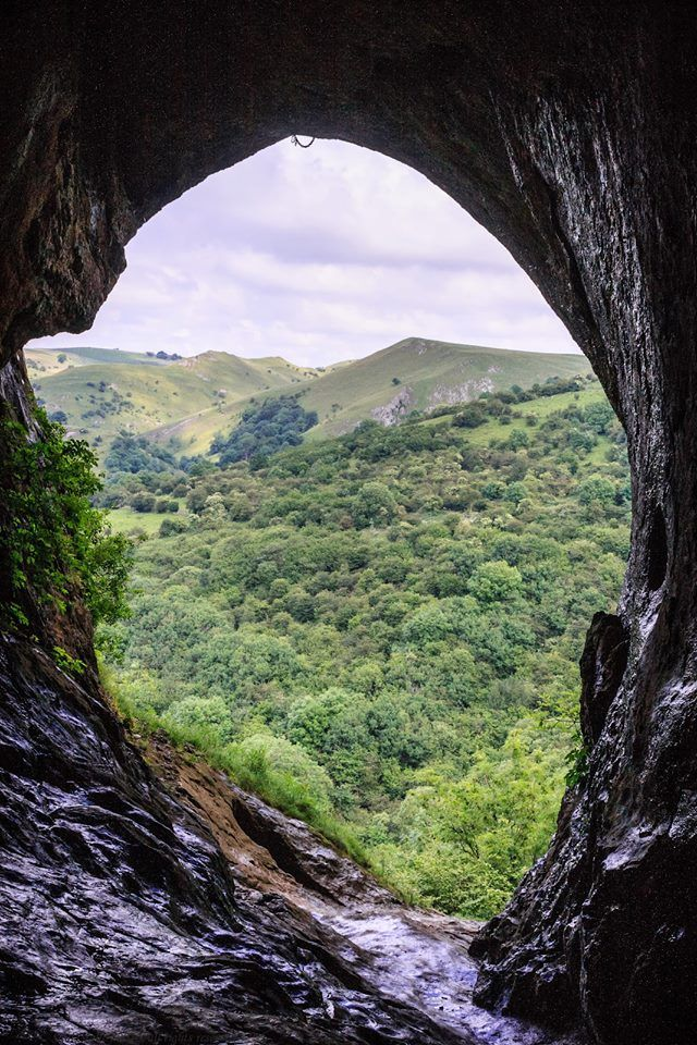 The stunning view from Thor's Cave in the Peak District, an upland area in central and northern England