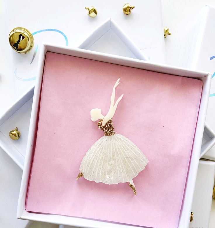 Gold Tiny Dancer Brooch - Limited
