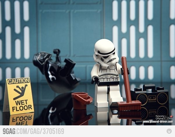 Just me cleaning the Death Star. LOL! I <3 the LEGO Star Wars video game. The real LEGOs are pretty awesome too ;)