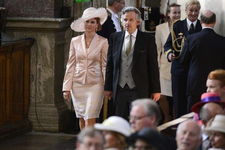 Princesa Marta Luísa e Ari Behn - Batizado da princesa Estelle da Suécia Foto: Lusa