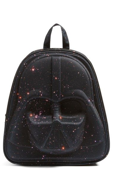How cool is this 'Star Wars™ - Darth Vader Galaxy' Backpack from Nordstrom? Love that it's made with durable nylon and has functional zipper pockets. Perfect for back-to-school shopping.