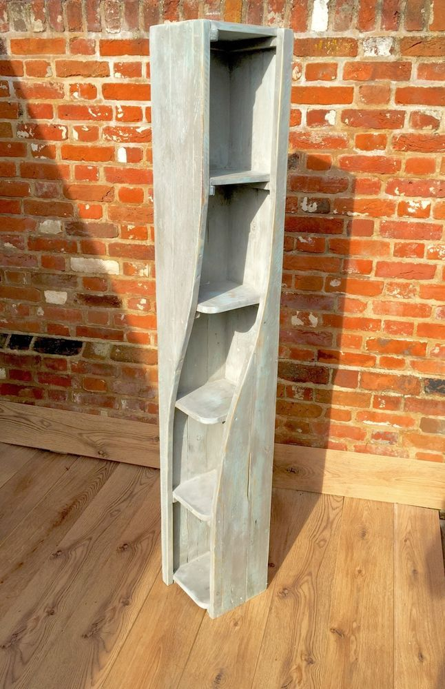 Antique Style Shop Display Book Stand DVD Rack Corner Furniture Sheek Shelfs