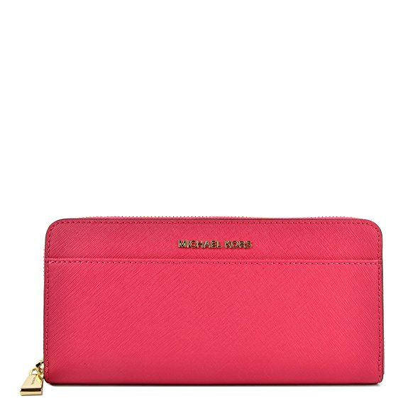 Michael Kors Womens Money Pieces Wallet Pink (Ultra Pink) with #Gold Hardware. Would make a great #GiftforHer | #Ad