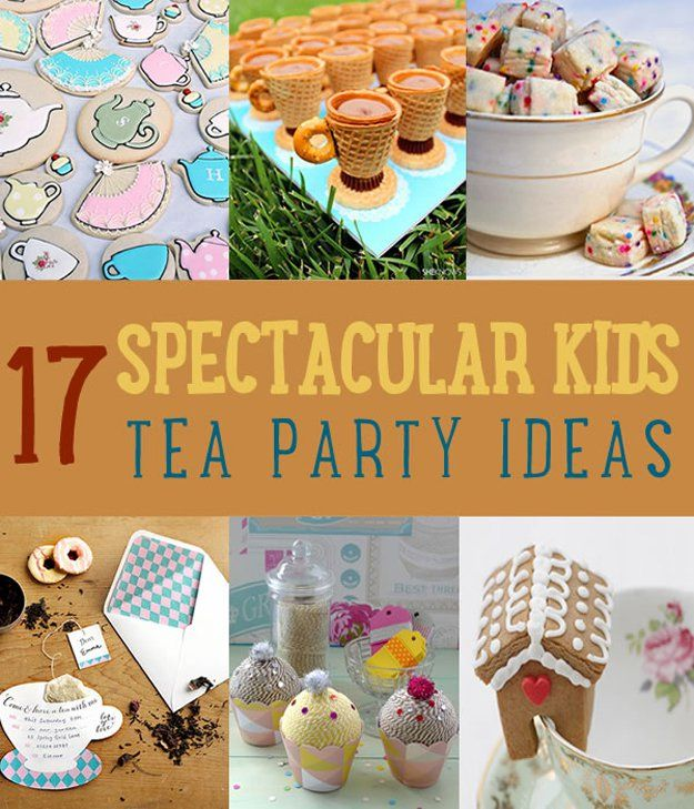 """While this may say it's for kids, I LOVE a ton of the ideas and would proudly do this with my friends.  """"Planning a tea party for kids? If you don't have any tea party ideas, this list will help you out. From food to favors, there's something for you to try."""" - from the author of the article."""