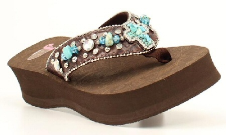 Bling Flip Flops Justin Carly Faux Turquoise Cross Stones Brown: Flipflops, Turquoise Cross, Stones Brown, Brown Bling Flip Flops, Bling Stuff, Faux Turquoise