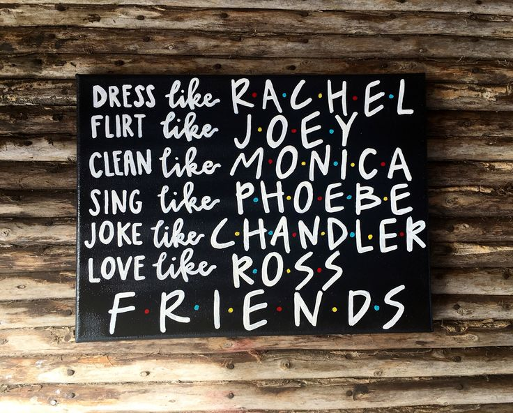 Friends TV show canvas art /rachel/monica/phoebe/joey/chandler/ross