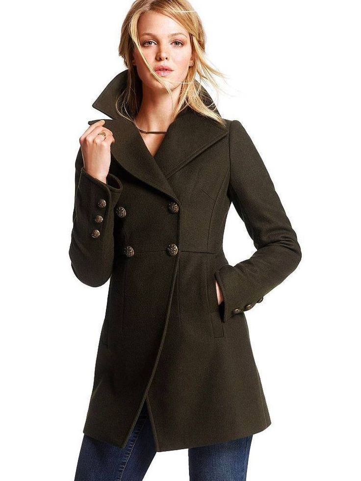 22 best Olive green coats images on Pinterest | Military style ...