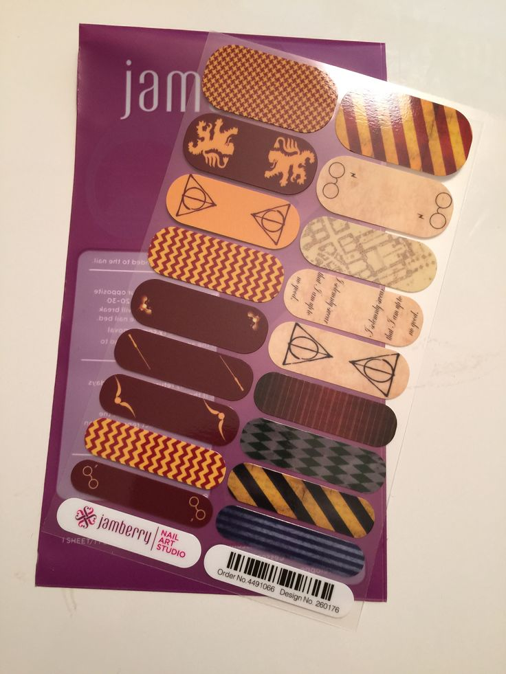 "Are you a Harry Potter nerd?! Well show your love on your nails with these custom Harry Potter-Inspired Jamberry Nail Wraps! These wraps are my design and can be ordered by clicking the photo. Email questions or custom design requests to jamswithjenna@gmail.com""  Harry Potter Jamz!!!?!?!?!  WHAT!!!?!?!  That's awesome!"
