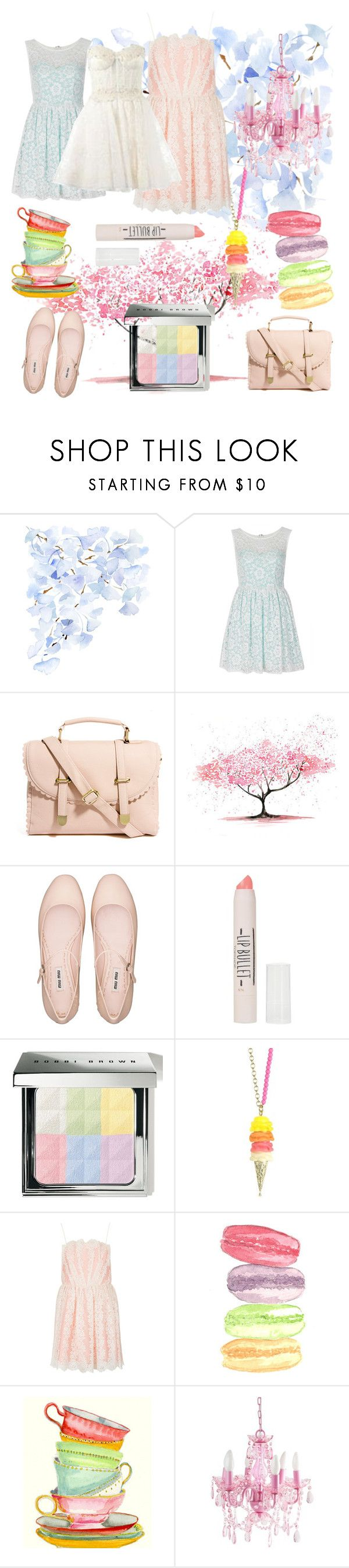 """The last days of summer"" by annie-z-z ❤ liked on Polyvore featuring WALL, TFNC, ASOS, Miu Miu, Topshop, Bobbi Brown Cosmetics, N2 By Les Nereides, Zuhair Murad, lace and miumiu"