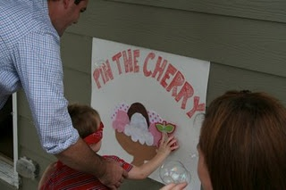 Pin the cherry on the ice cream!