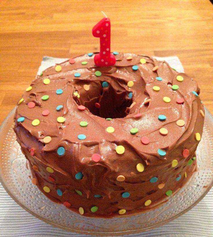 Spotty cake, with hidden spots inside.