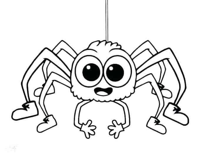 Lucas The Spider Coloring Pages In 2020 Spider Coloring Page Halloween Coloring Pages Halloween Coloring