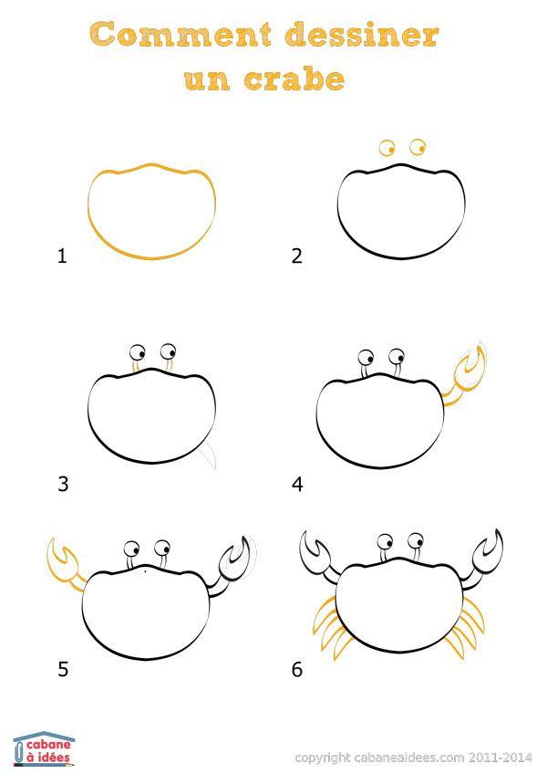 Comment dessiner un crabe | La cabane à idées