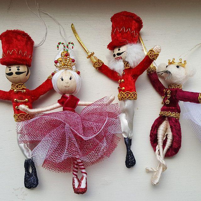 bendy doll ballet doll dancer doll wool toy Christmas decor Steiner toy tree ornament toys elf traditional toy Christmas dancer doll