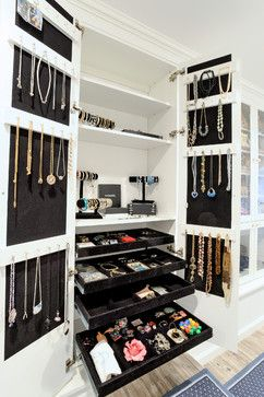 Attic dressing room. Jewelry closet.