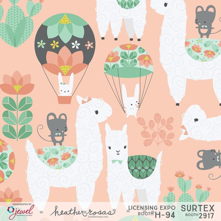"""2 Likes, 1 Comments - Heather Rosas (@heatherrosasart) on Instagram: """"Hero print from Alpaca Parade. See more of my artwork and meet my super nice agents Julie, Samira,…"""""""
