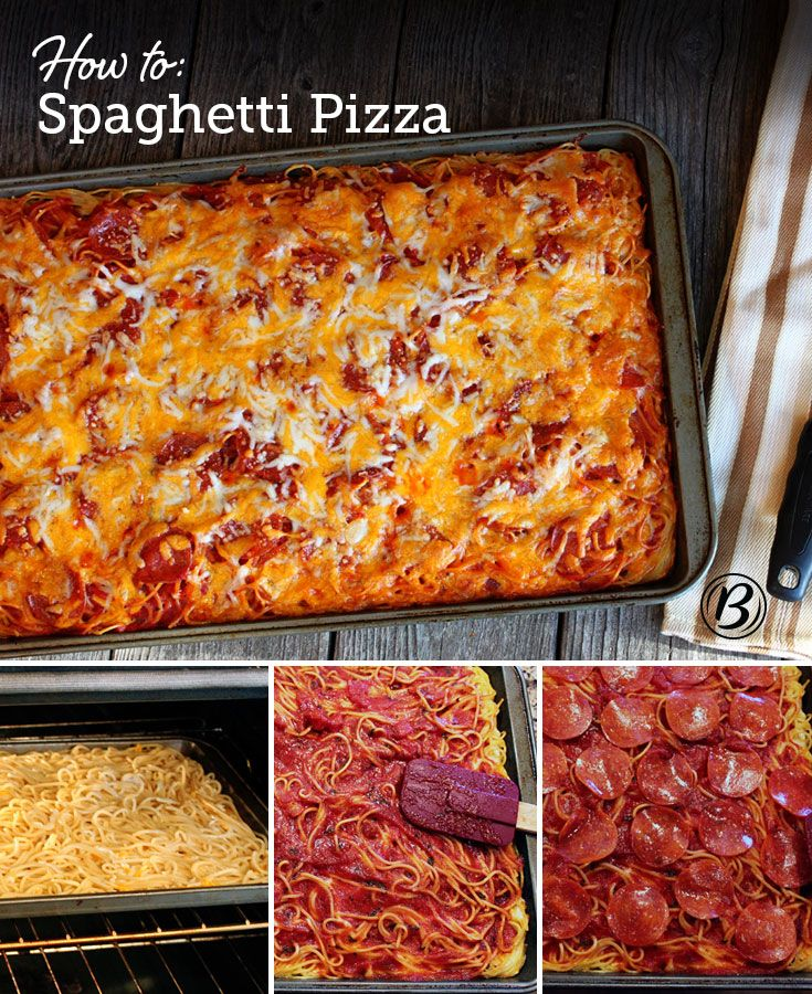 "Wow your family with this easy pepperoni pizza that features a ""crust"" made of spaghetti!"