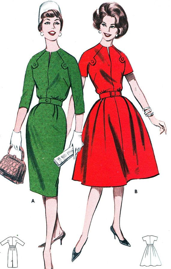 1960s Dress Pattern Butterick 9503 Mad Men Raglan by paneenjerez, $16.00