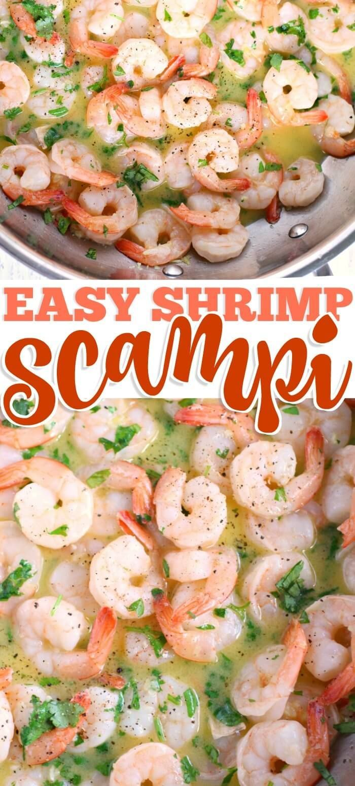SHRIMP SCAMPI – NEW RECIPE! Buttery garlicky Shrimp scampi is a quick and easy r…