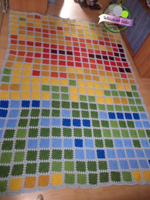 crochet temperature blanket 2010/2011