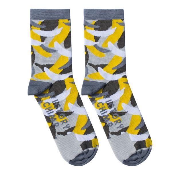 Banana Camo Cycling Socks (Grey)