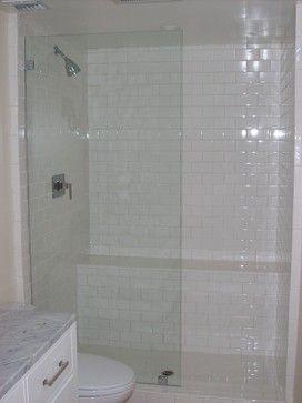 Single frameless shower panel - NO door