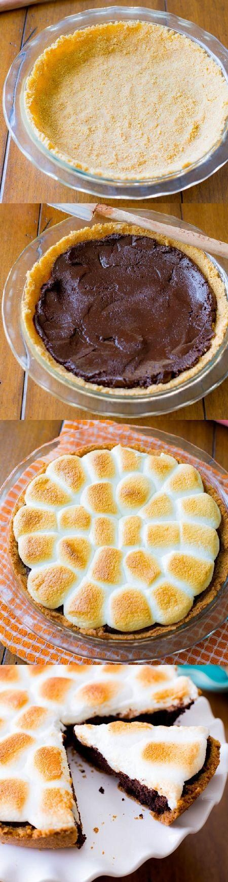 S'mores and Marshmallows Pie Recipe