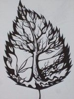 Amazing Leaf Tree Tattoo Idea…to Symbolize Learning To Live Successfully Through Life Changes.