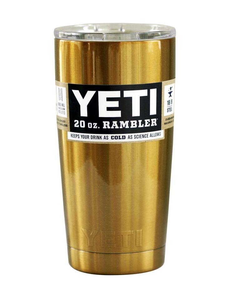 Gold Metallic Yeti 20 oz Rambler Tumbler  #yeti #yetis #yeticoolers #yetitumbler #powdercoated #coloredyeti #yeticup #yetirambler #love #yetination #thetwistedcup