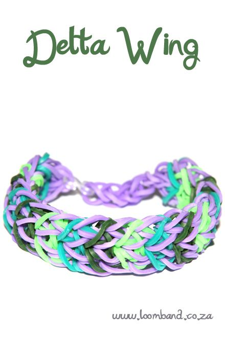 Delta wing loom band bracelet tutorial, instructions and videos on hundreds of loom band designs. Shop online for all your looming supplies, delivery anywhere in SA.