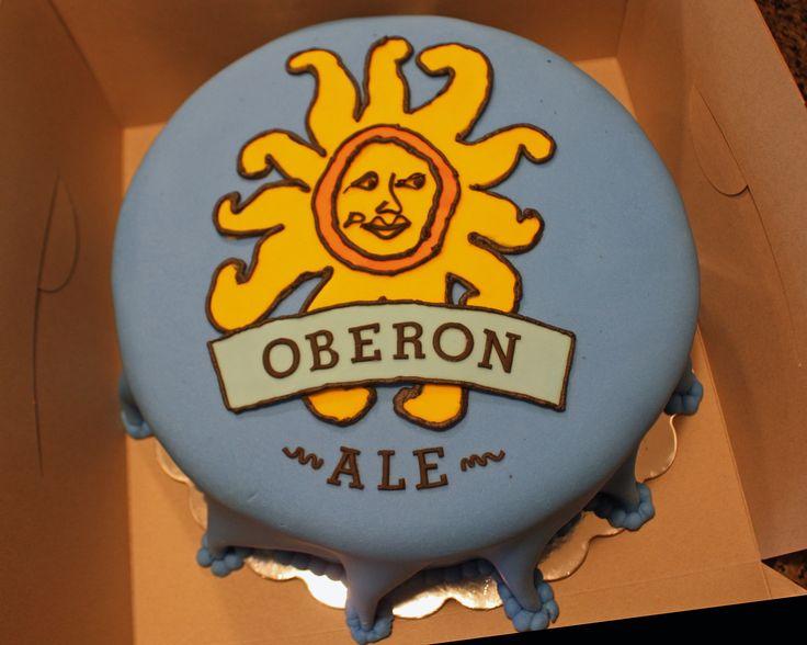 Oberon Beer bottle cap cake - Frosted Bake Shop.