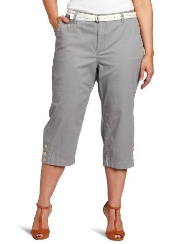 Dockers Women's Plus-Size The Soft Capri Pant, Neutral Gray, 20 Dockers. $37.66. Super soft twill with naturally occurring highs and lows. 99% Cotton/1% Elastane. Made in China. Machine Wash. Woven pickstitch belt. Save 28% Off!