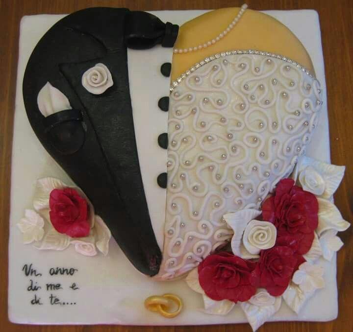 Torta anniversario di matrimonio
