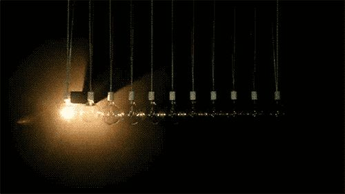 Stressed Out? Watch A Video Of Newton's Cradle Recreated With Incandescent Light Bulbs | The Creators Project