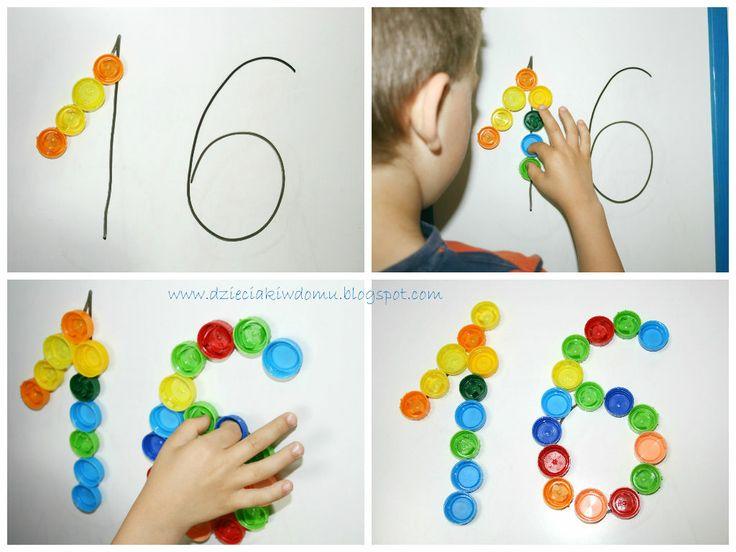 magnesy z nakrętek - kreatywne zabawki z recyklingu dla dzieci