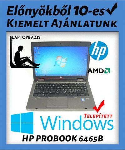 Kiemelt ajánlatunk: HP PROBOOK 6465B - Az ára tartalmazza az ajándék Windows-t (7-8-10) - Rendkívül kedvezményes ár (28%-os engedmény) - Ingyenes kiszállítás Ha még nincs túl a gyerek a húszas évein, akkor ez a HP laptop kiváló az iskolai feladatok ellátására, valamint egy kis játékra. Jogtiszta Windows 7-tel, 4 GB memóriával, s ezt megturbózva videokártyával, máris versenyezhet osztálytársaival a legjobb játékokban. Persze csak akkor, ha már befejezte a házi feladatot. Ez a használt laptop