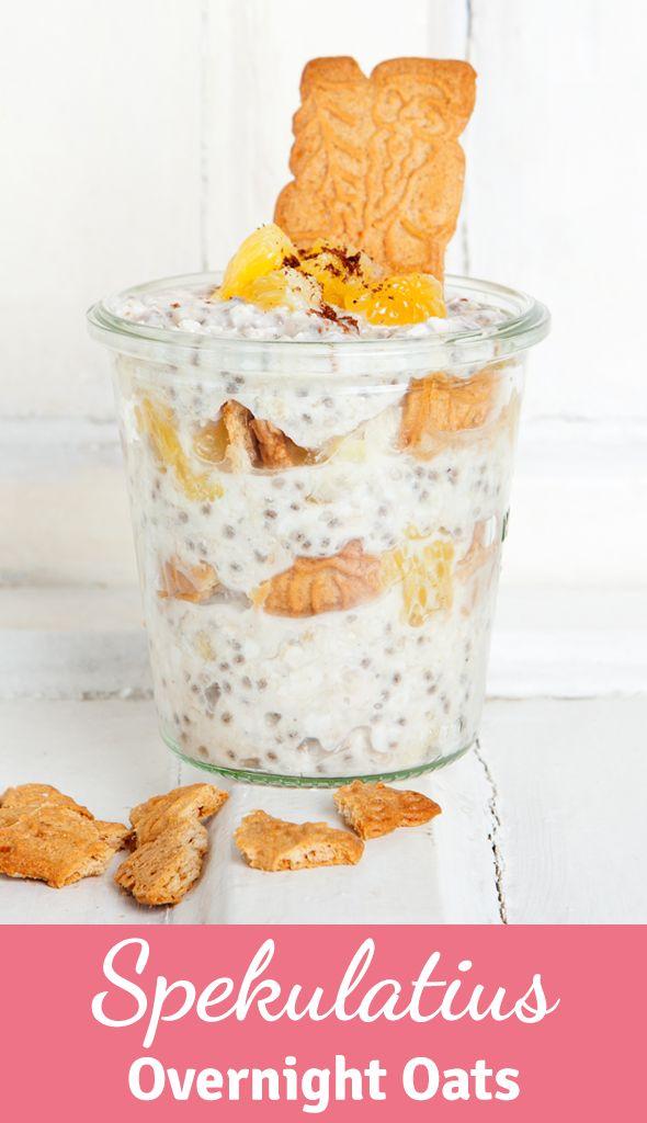 Gesundes Frühstück über Nacht: Diese Sepkulatius Overnight Oats mit Orange müsst ihr unbedingt probieren!