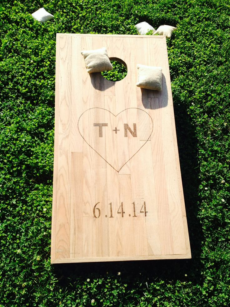 Personalized Rustic Wedding Corn Hole Boards