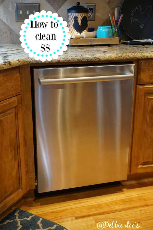 How to Clean Stainless Steel from Debbiedoo's. Make your appliances look like new!