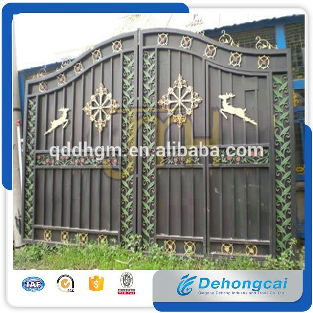 Look what I found Via Alibaba.com App: - European Style Modern luxious craft wrought iron gate/ house gate designs